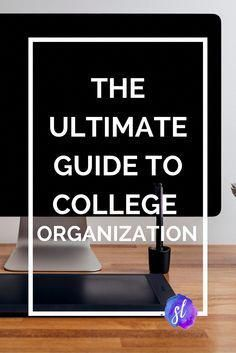 The updated and expanded ultimate guide to college organization! How to use a pl… – Best courses online
