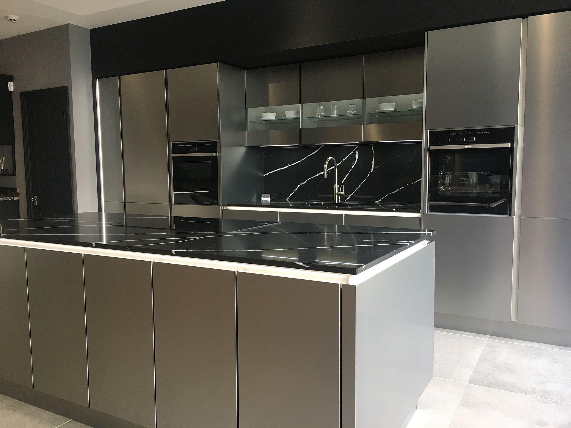 Best Modern Matt Grey Handleless Kitchen With The Fantastic 640 x 480