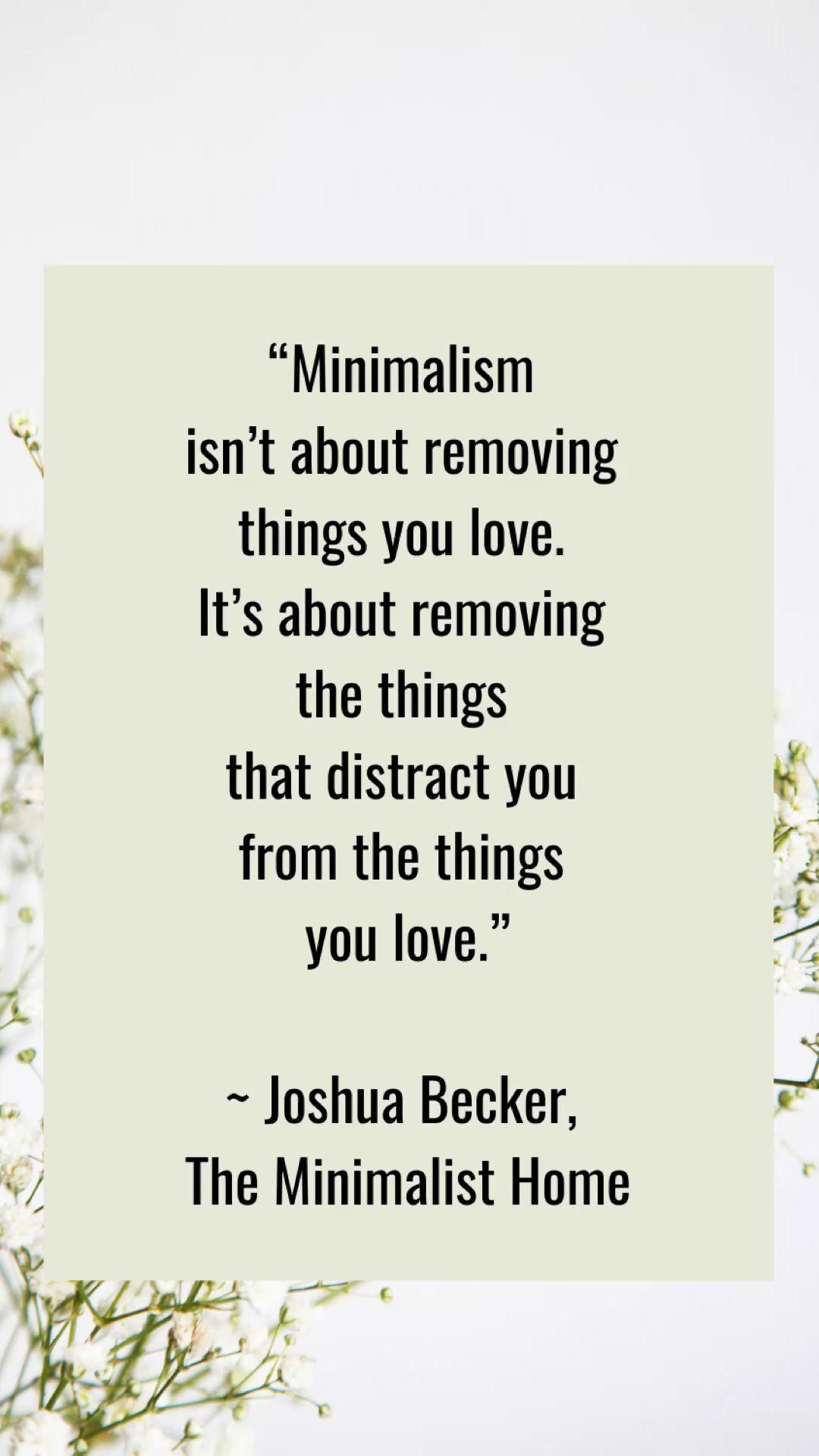 Minimalist and Simple Life Quotes | Simple Life Hub.