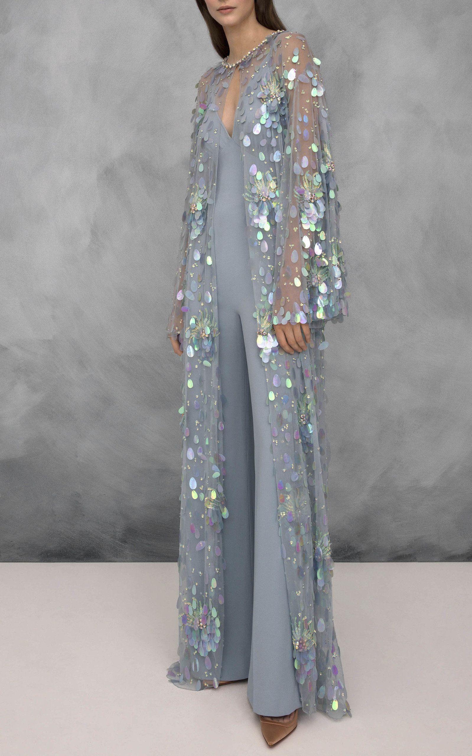572aa5390f2 Almandine Sequin Coat by JENNY PACKHAM for Preorder on Moda Operandi