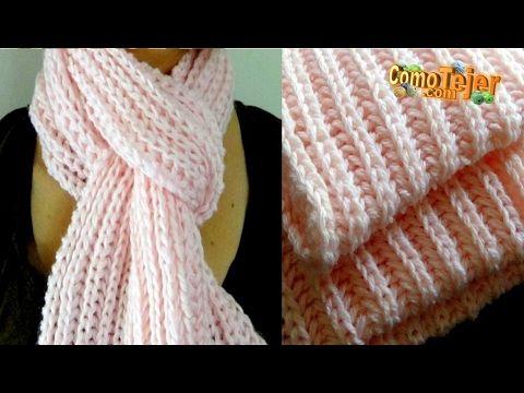 Como tejer una bufanda fácil y rápido en punto primavera - How to make  scarf knitting - YouTube c62c66d63bc