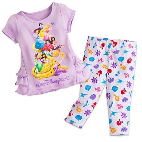 Disney Princess Top And Leggings Set For Baby Walt Disney World