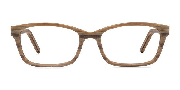 a85e7b3cdf Add some zest to your style with these brown striped eyeglasses. This  rectangular shaped frame