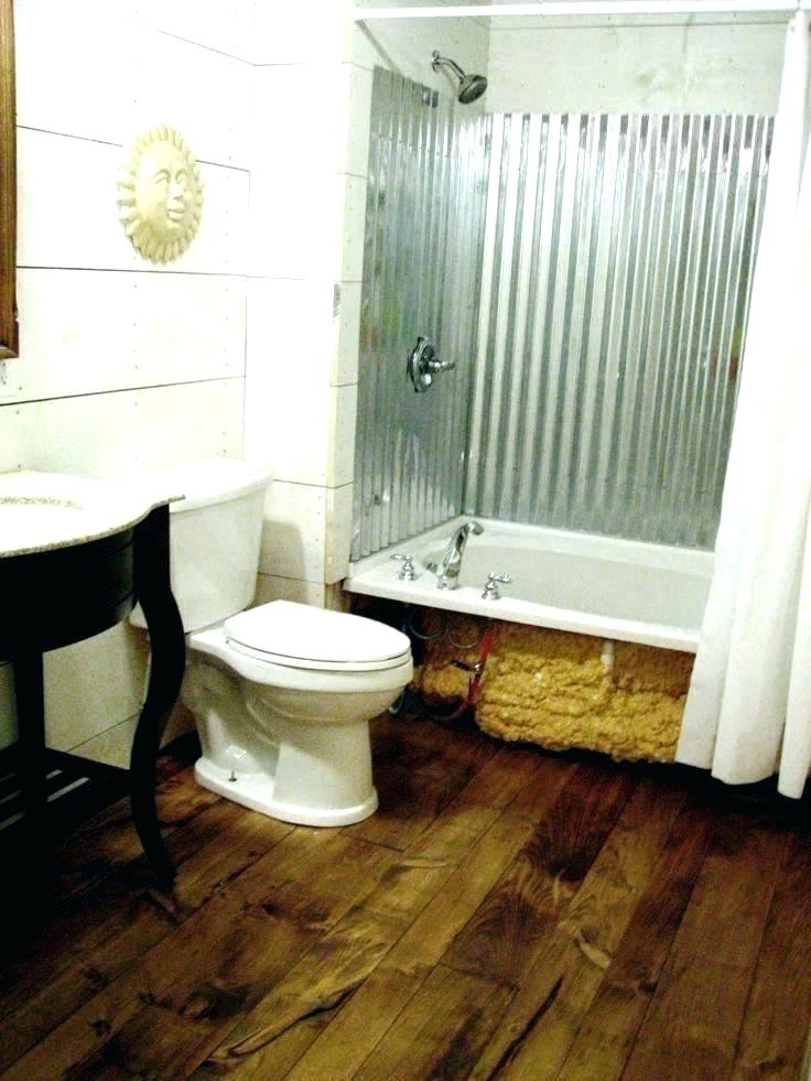 Galvanized Shower Corrugated Metal Bathroom Walls Jump Shack Steel Or Galvanized Metal Outdoor Shower Bathroom Shower Walls Tin Shower Walls Pine Wood Flooring