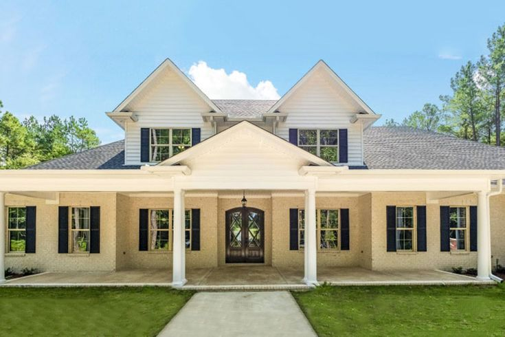 4Bed Country Home with Partiallyscreened Porch  86341HH  Architectural Desig