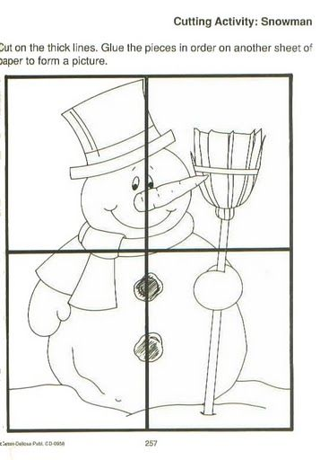 Easy Snowman Puzzle Craft Crafts And Worksheets For Preschool