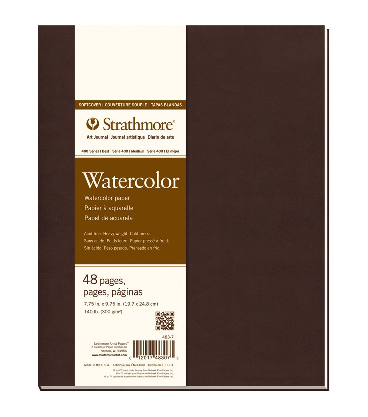 Strathmore Soft Cover Watercolor Journal Book With 48 Pages 7 75