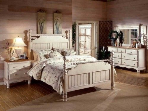 Timeless Country Style Bedroom Sets / light base on ...