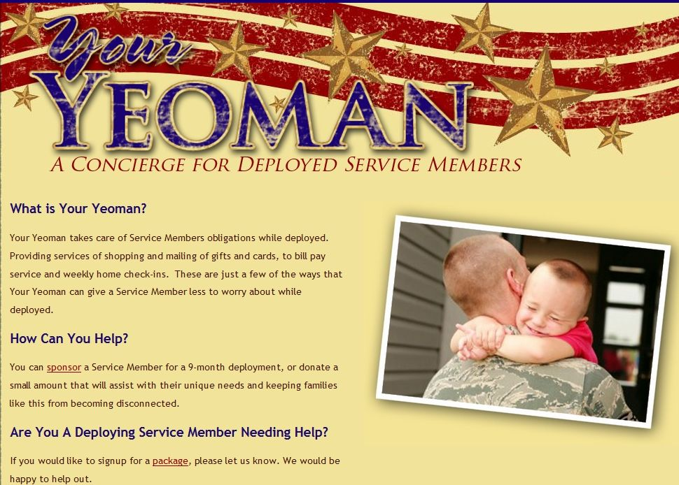 Your Yeoman is a resource and support service for deployed
