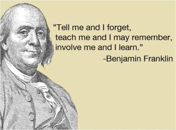 Education Quote Teach Learn Benjamin Franklin Quotes Ben