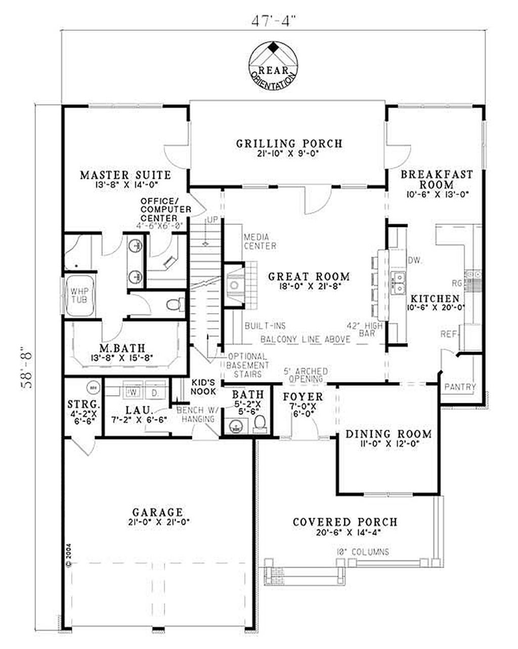 Craftsman Style House Plan 4 Beds 3 Baths 2470 Sq Ft Plan 17 2131 Craftsman Style House Plans How To Plan Bungalow House Plans