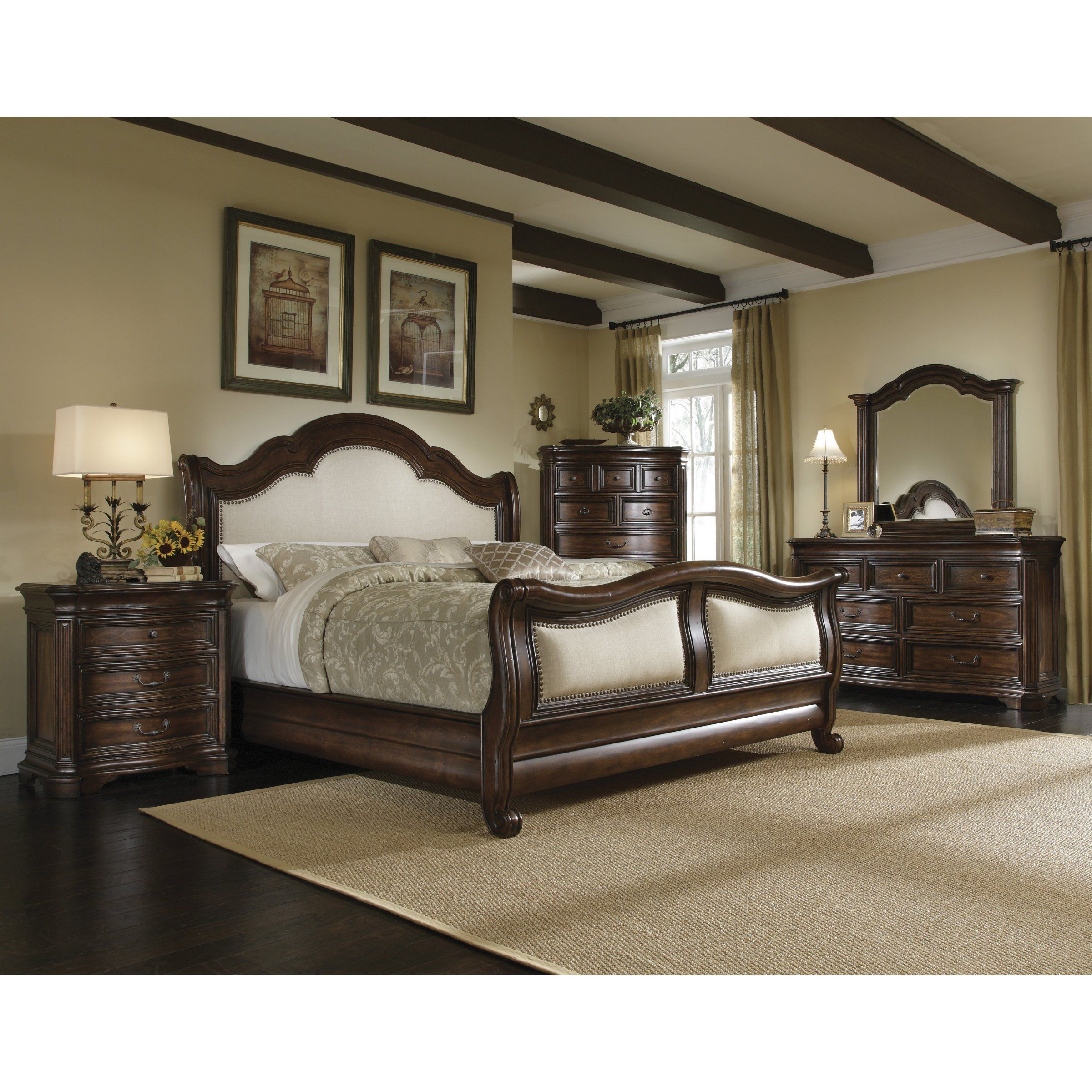 A.R.T. Furniture Coronado Collection Sleigh Bed Set from