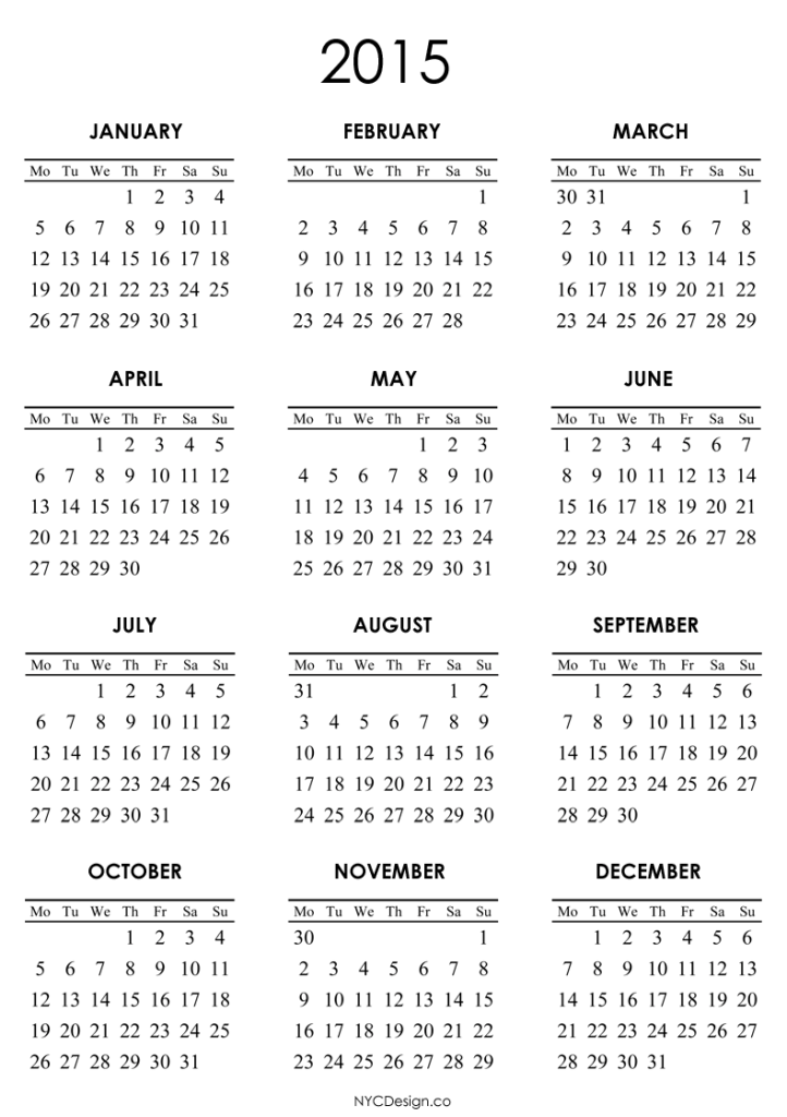 2015 Printable Calendar Templates Online Filofaxamania Pinterest