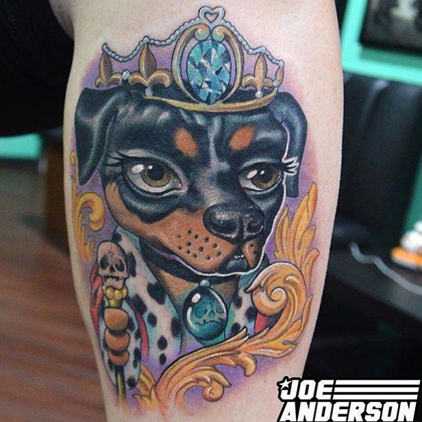 owalo design comic hunde tattoo
