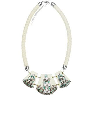 Chunky Cord and Perspex Statement Necklace - Acessorize