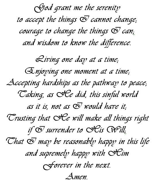 What to Change | Serenity prayer quotes, Bible and Poem
