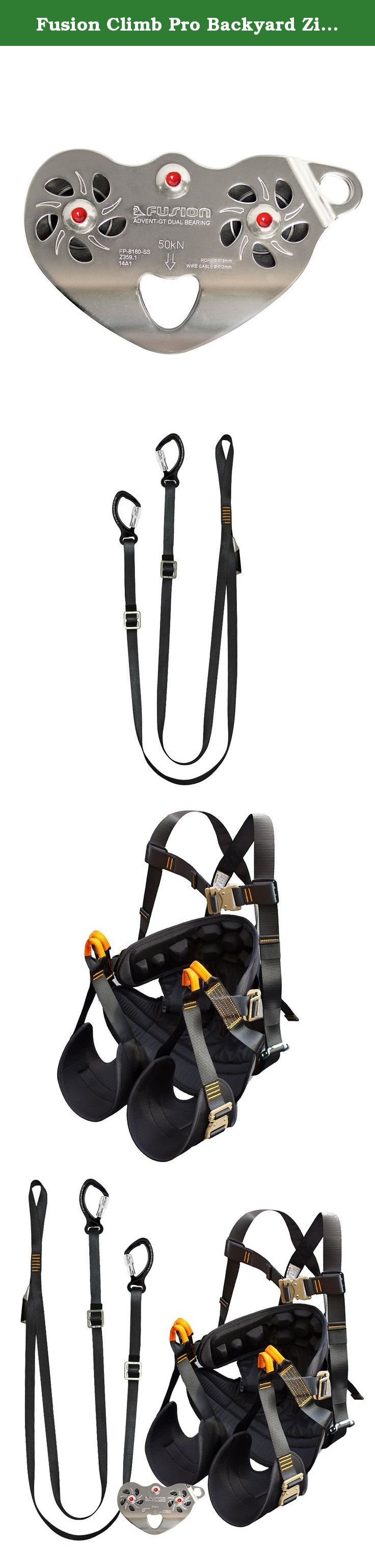 fusion climb pro backyard zip line kit fk a hlt 29 harness lanyard