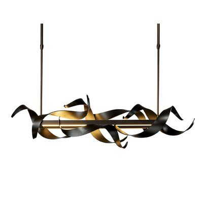 Hubbardton Forge Folio 1-Light Kitchen Island Geometric Pendant | Perigold