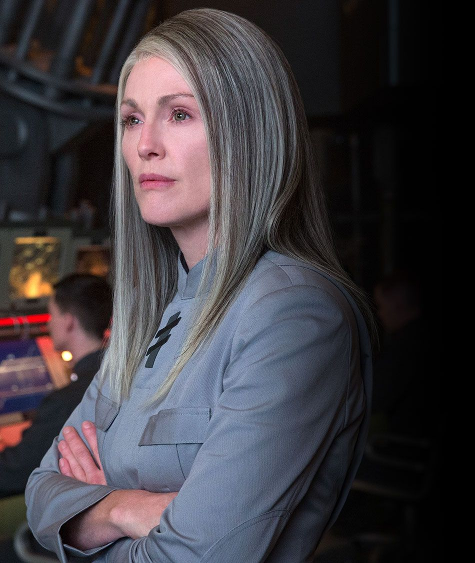 JULIANNE MOORE President Alma Coin   Hunger games characters