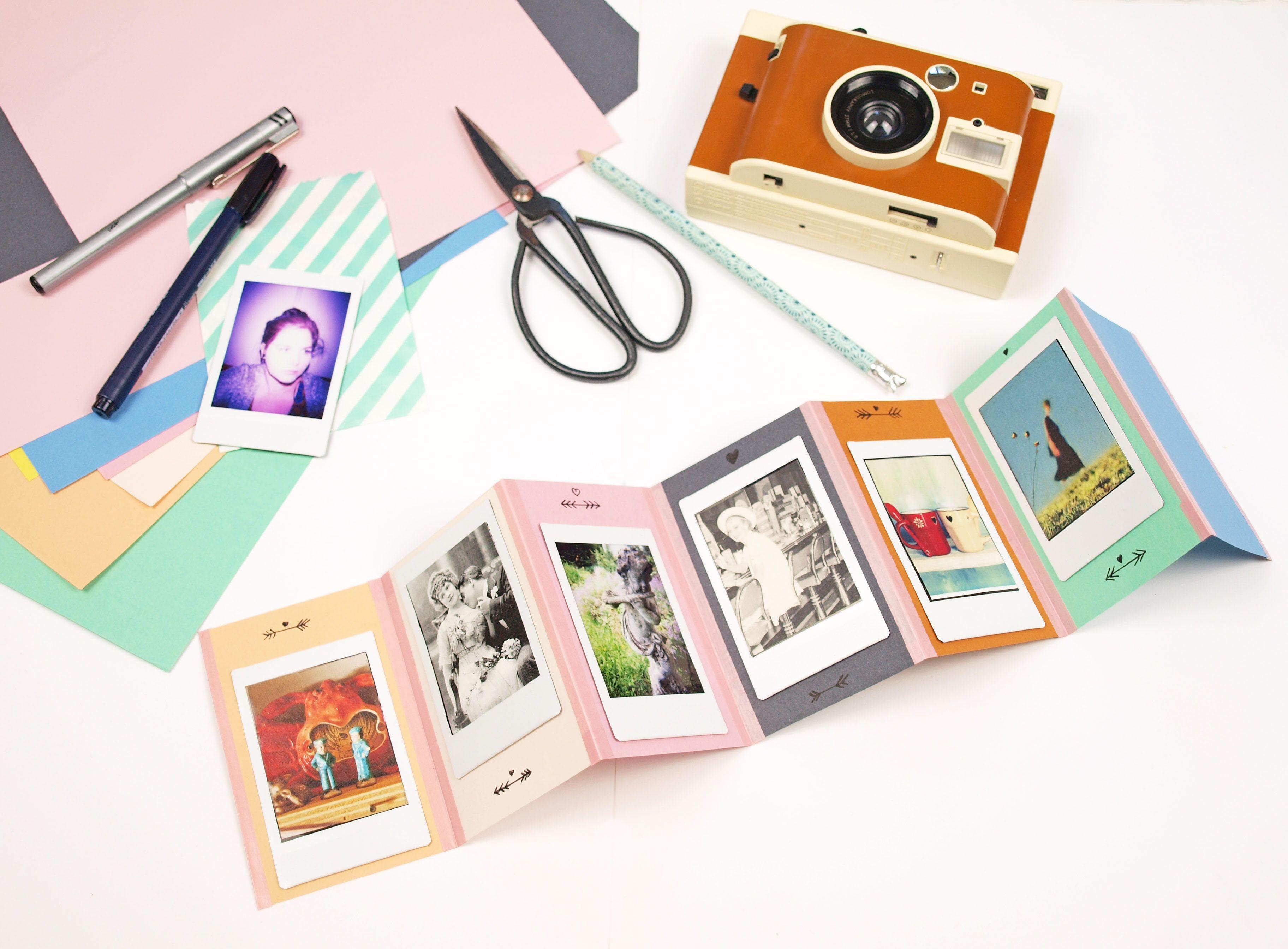 geschenkidee diy foto leporello und lomo instant kamera. Black Bedroom Furniture Sets. Home Design Ideas