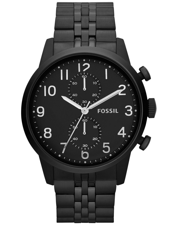 Fossil herreur i sort stål med stopur - Fossil Townsman Chronograph FS4877