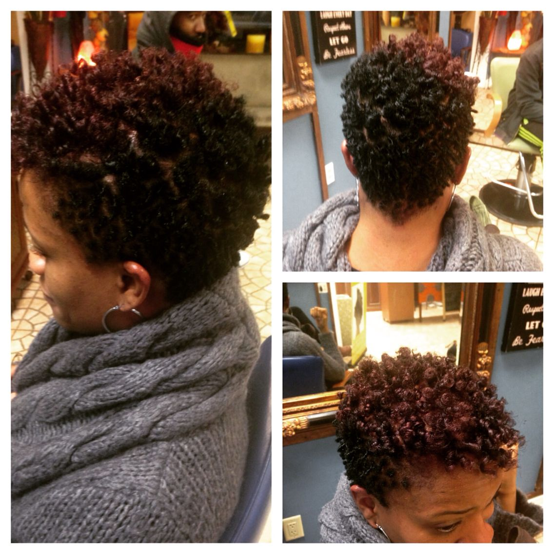 Ium loving my new cut and color flexirod style natural hair