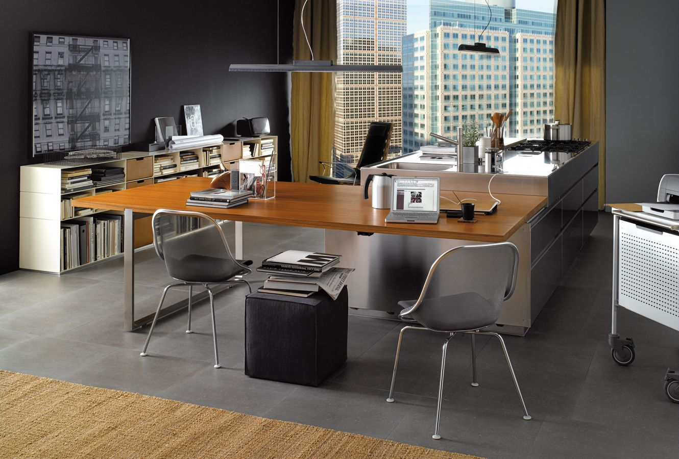 Small Office Kitchen Here We Present Convivium By Arclinea Designed In The Office