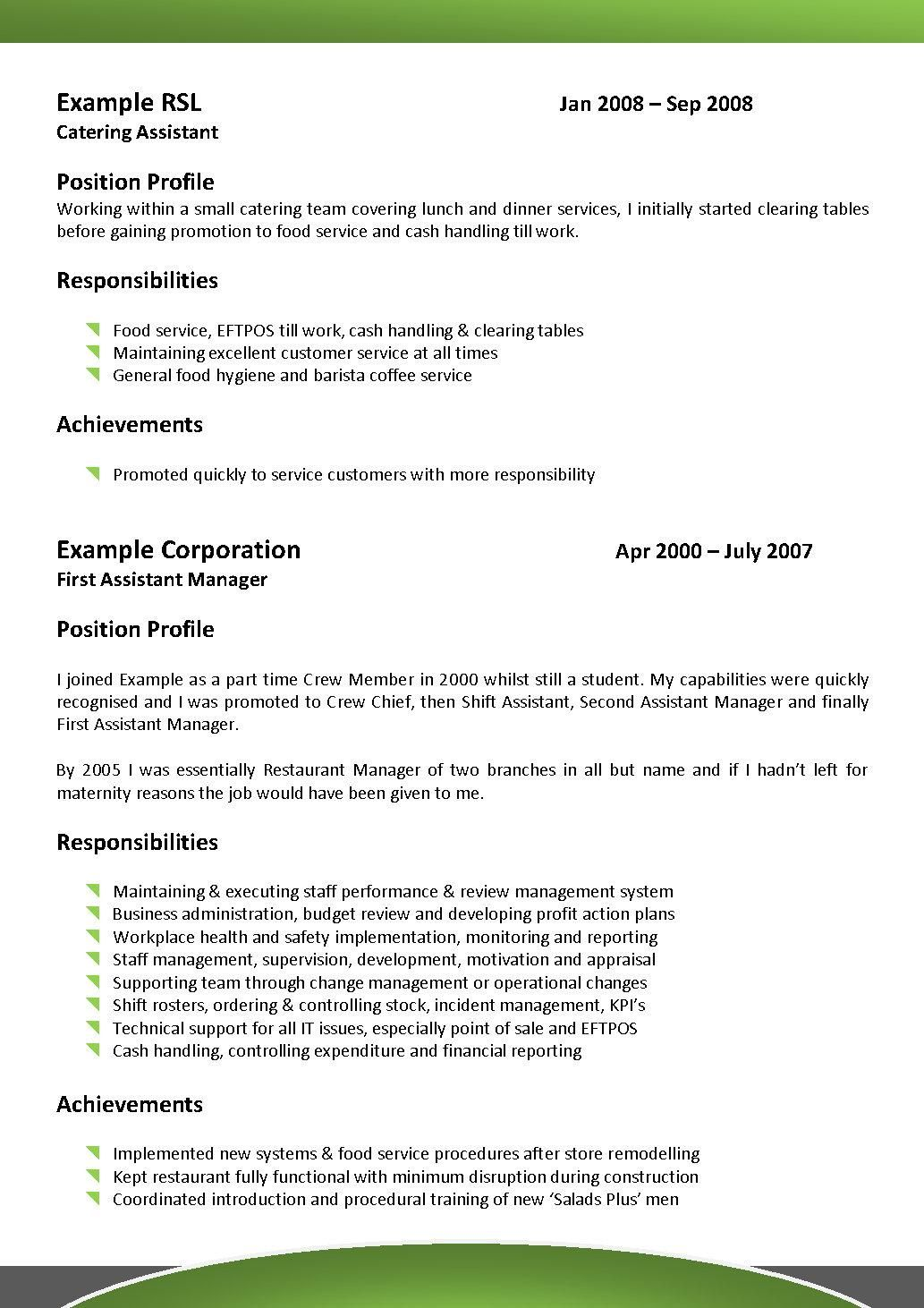 Food Service Resume Objective Examples Beautiful Food Service Resume Examples Elegant Simple Food Service Di 2021