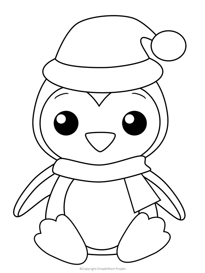 Free Printable Penguin Coloring Page in 2020 | Penguin coloring ... | 960x720