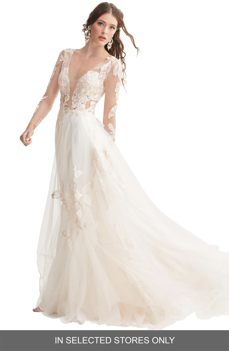 Willowby Rhapsody Lace & Tulle A Line Wedding Dress   Nordstrom ...