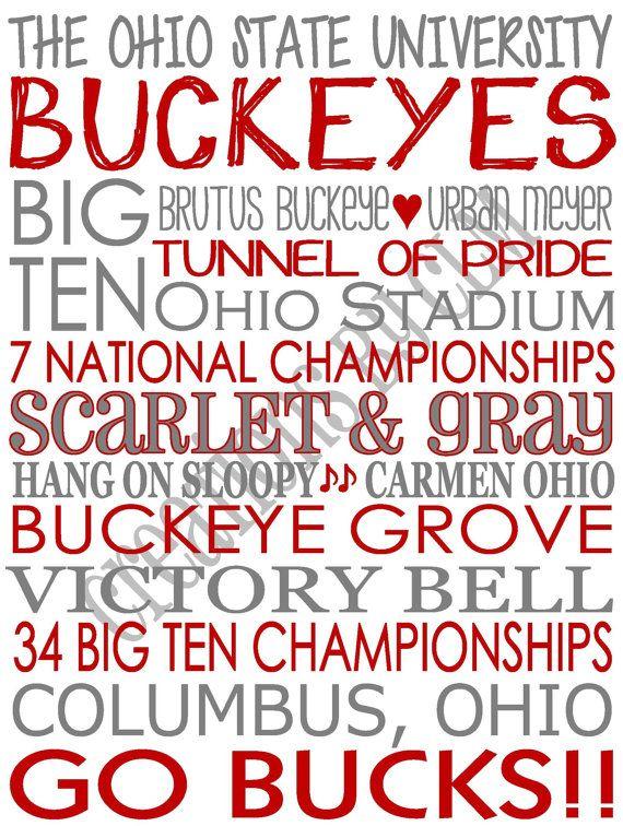 Subway Art The Ohio State University Buckeyes \'Rustic\' Looking ...
