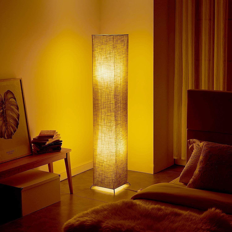 """Floor Lamps,Fy-Light 4"""" Modern Linen Fabric Standing Lamp Soft"""