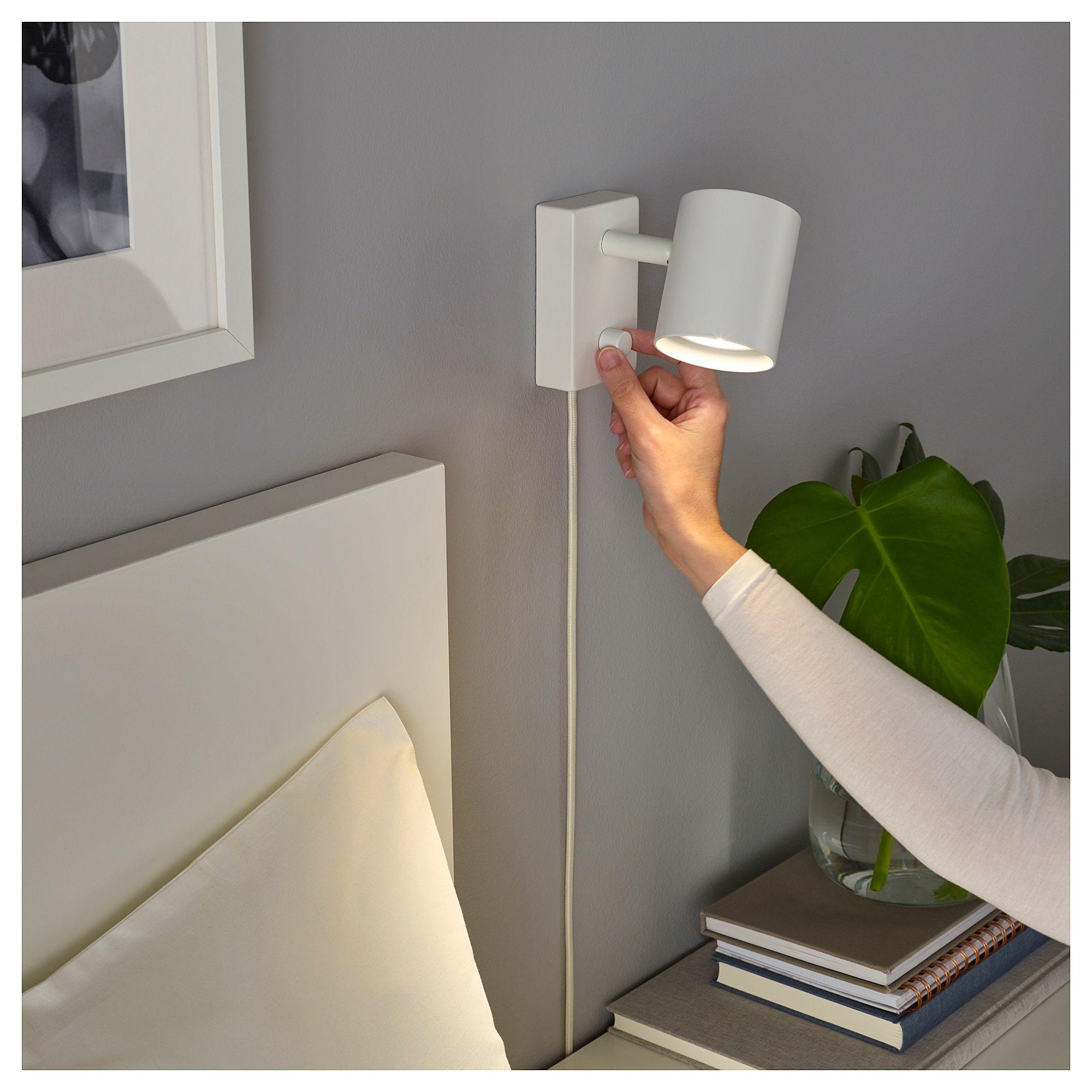 Nym 197 Ne Wall Reading Lamp White Rustic Floor Lamps Bedroom Lamps Ikea