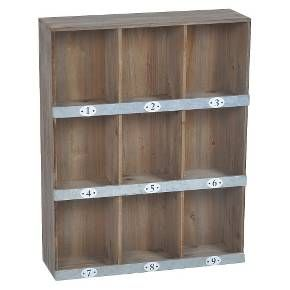 Floating Shelves Target Wooden Numbered Wall Shelf  9Slot  Target  For The Home