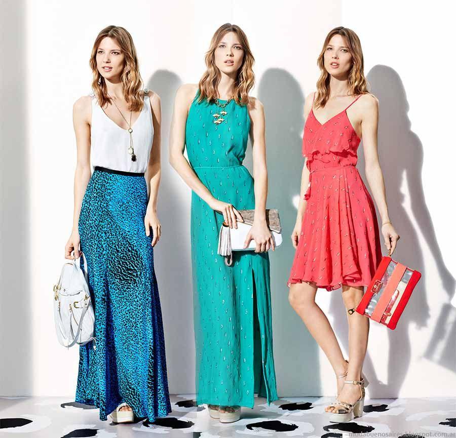 Colores de moda vestidos fiesta 2015