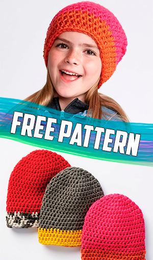 f37ffae0cf3 BERNAT DIPPED TIP CROCHET HAT  free  crochet  pattern  freepattern   easycrochet  freecrochet  freecrochetpatterns  crochet  freecrochet   easycrochet ...