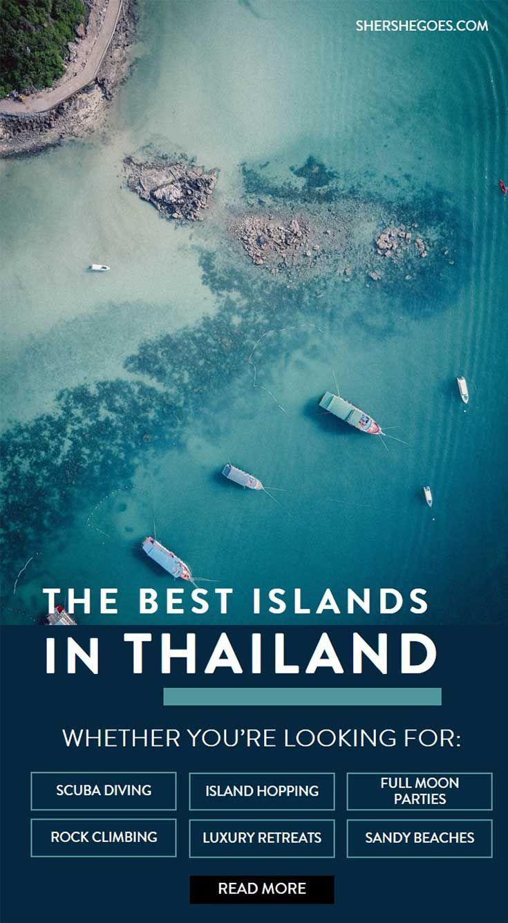 a guide to the thai islands on both the andaman and gulf coasts - koh tao, koh samui, ko pha ngan, hua hin, ko lanta, railay, ko phi phi, khao lak and more. read this travel guide for when to go and where to go among thailand's islands. #thailand #island #asia