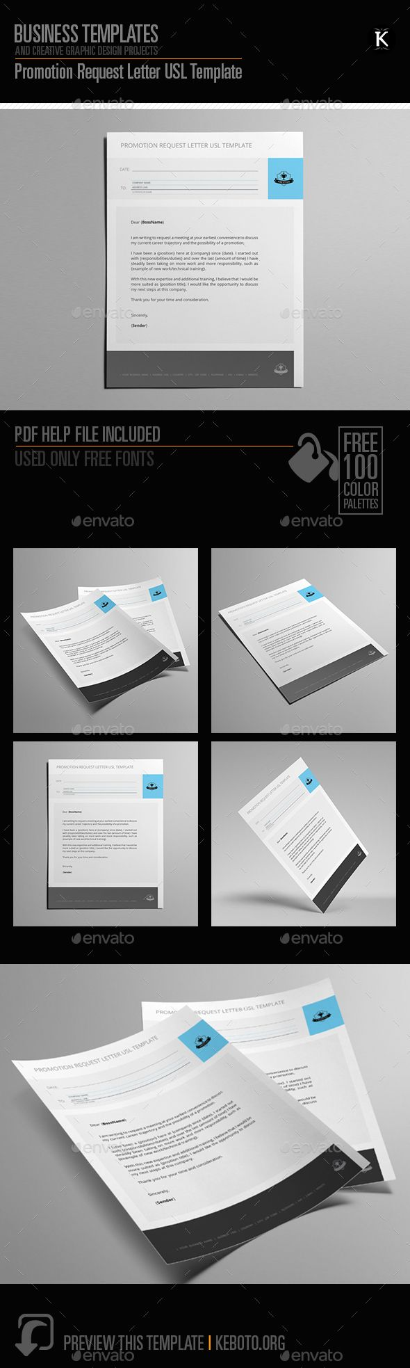 Promotion Request Letter Usl Template  Miscellaneous Print