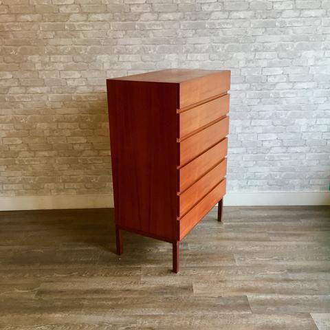 Best Canadian Mid Century Teak Tall 6 Drawer Dresser 640 x 480