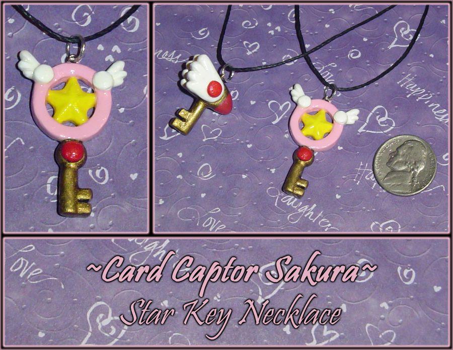 Etats-Unis Carte Capteur Sakura The Clow Magic Star Baguette Collier Anime Cosplay Pendentif