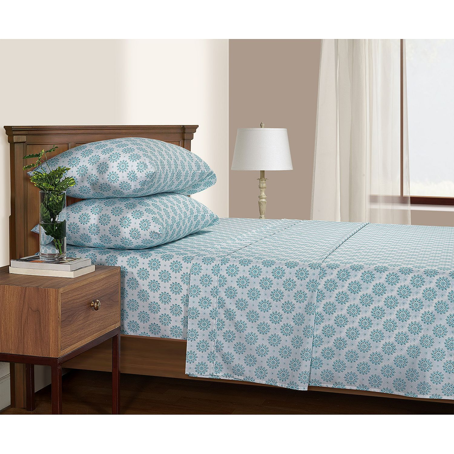 Serendipity 200 Thread Count Printed Percale Sheet Set