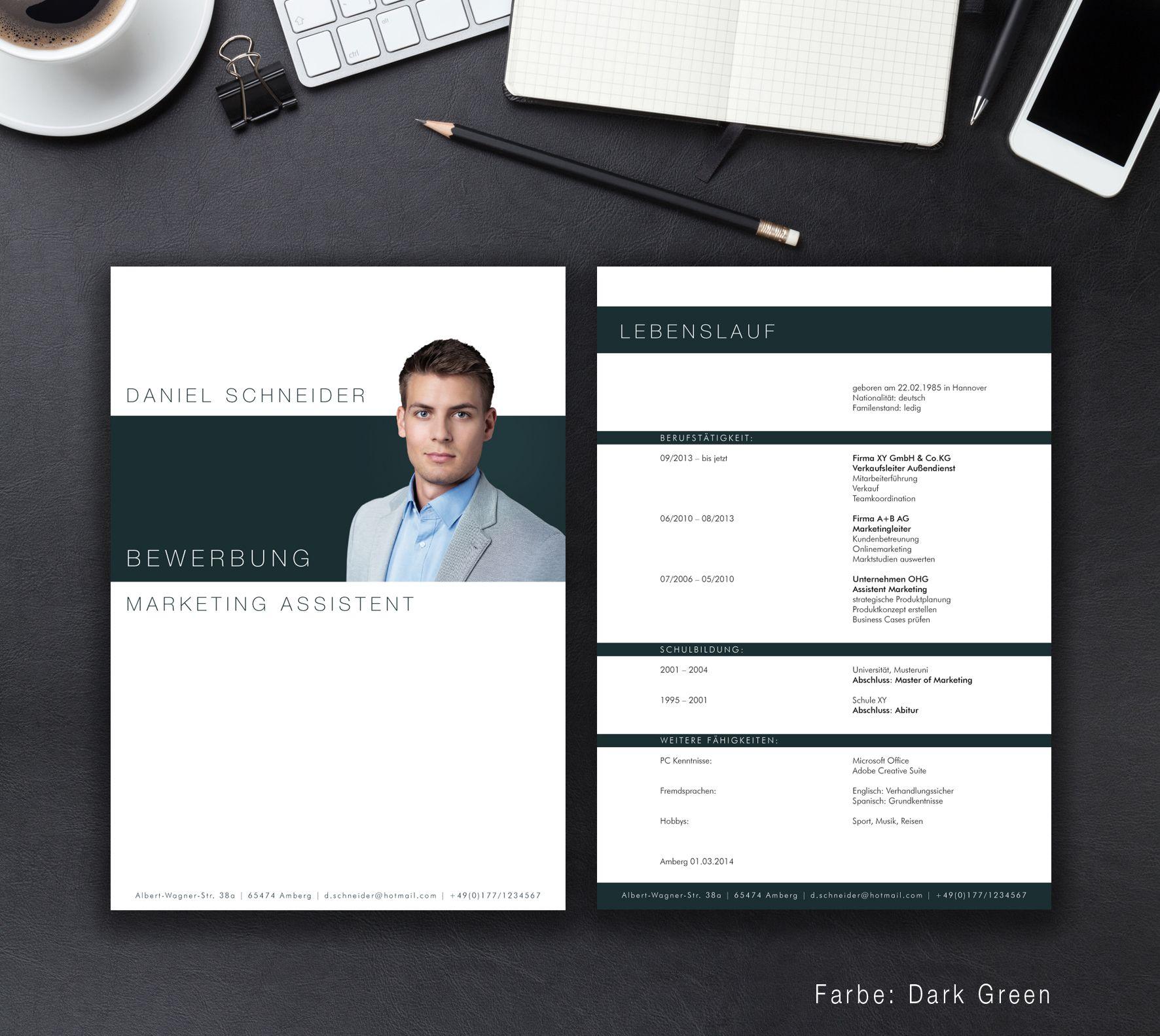 Bewerbungsvorlage Business | Kreativ Bewerbung | Pinterest ...