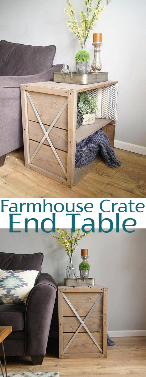 Photo of Farmhouse Crate End Table