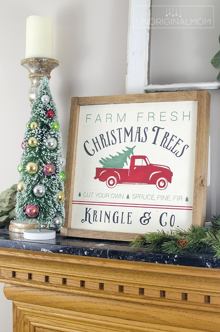 Reversible Thanksgiving and Christmas Farmhouse Sign