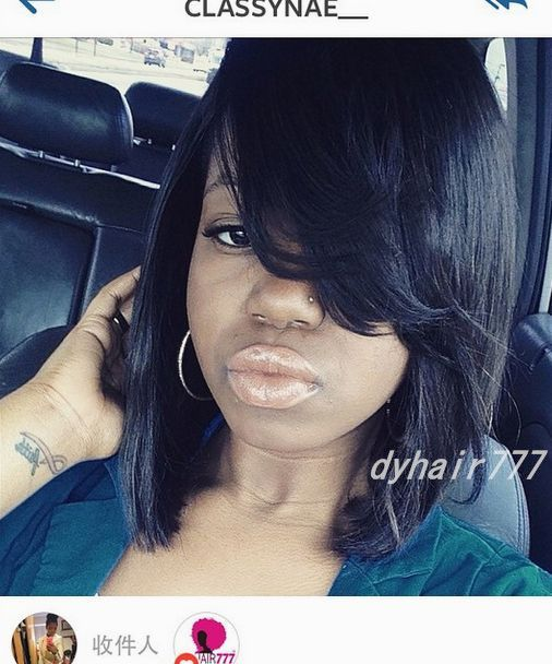 This Medium Length Bob Hairstyle Is Done With 3 Bundles Of 12