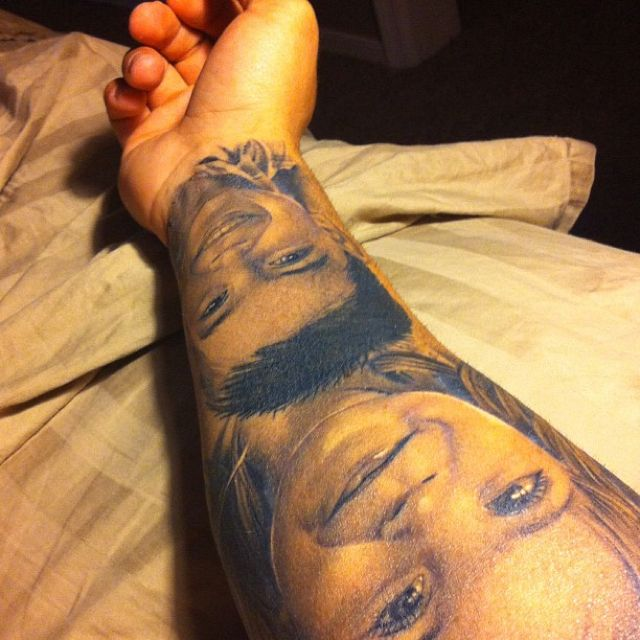 Portrait Tattoo Sleeve Ideas: Tattoo...portraits Of My Kids