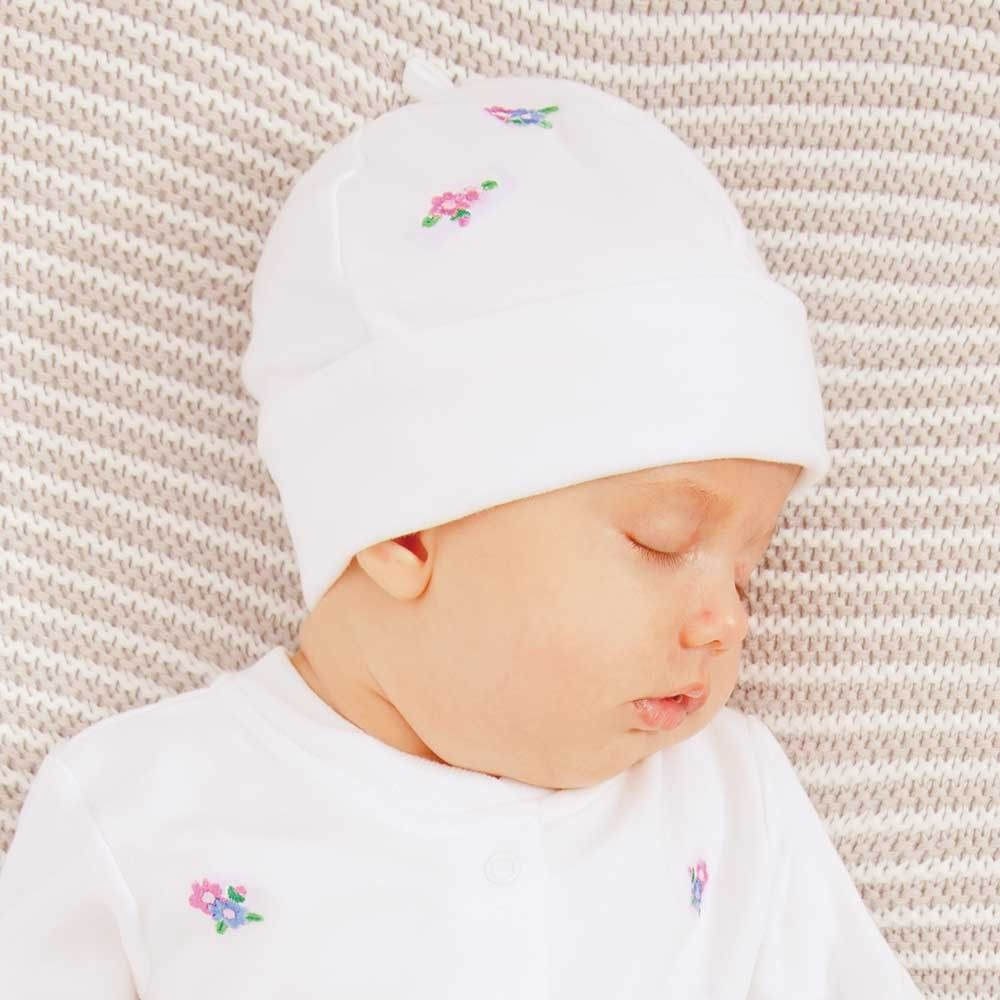 Floral Embroidered Baby Hat  ded481a123a