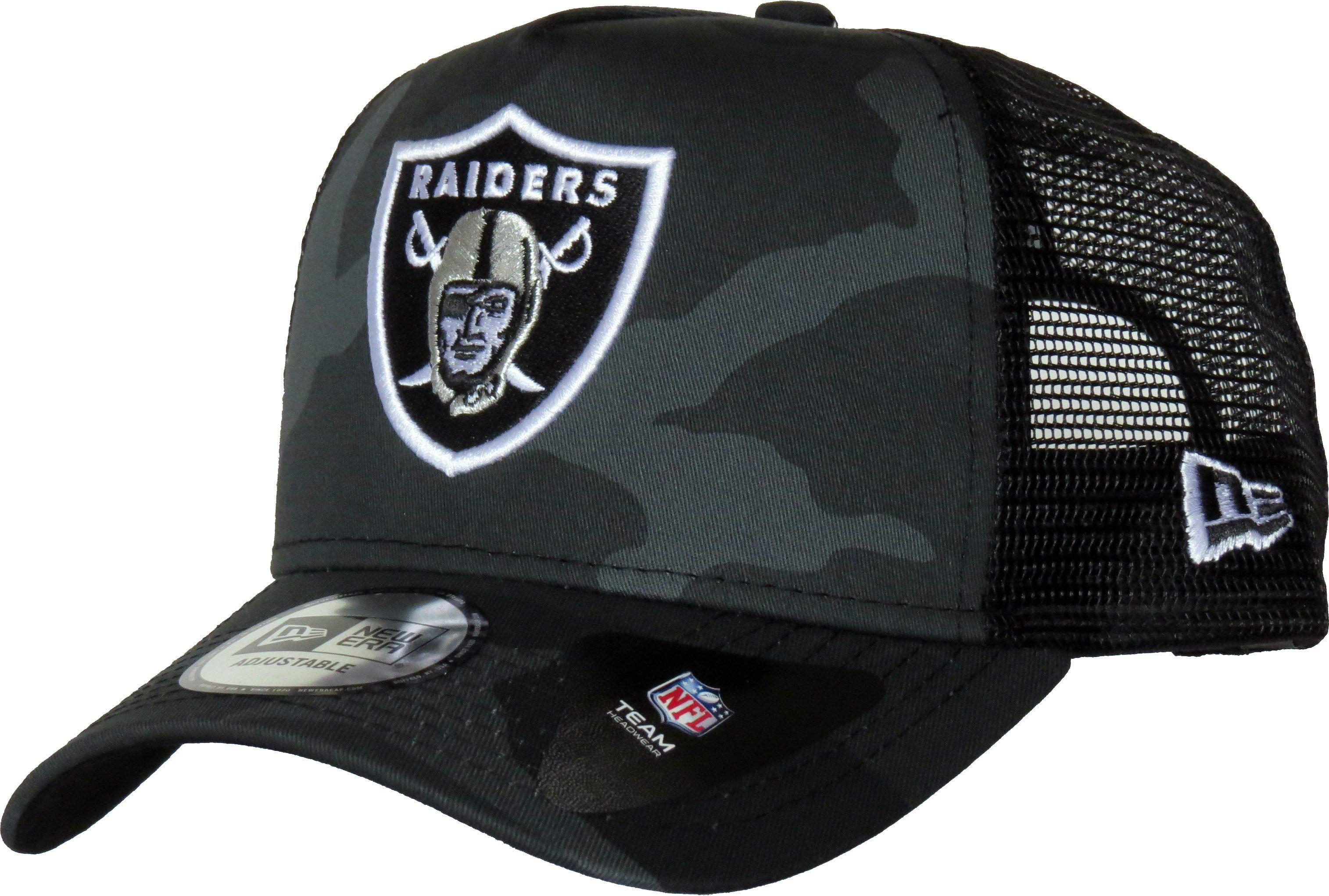 ba2562912ab92 Oakland Raiders New Era Midnight Camo Core Trucker Cap – lovemycap ...