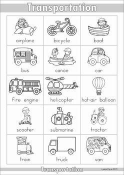 Dictionary Transportation Preschool Transportation Activities Transportation