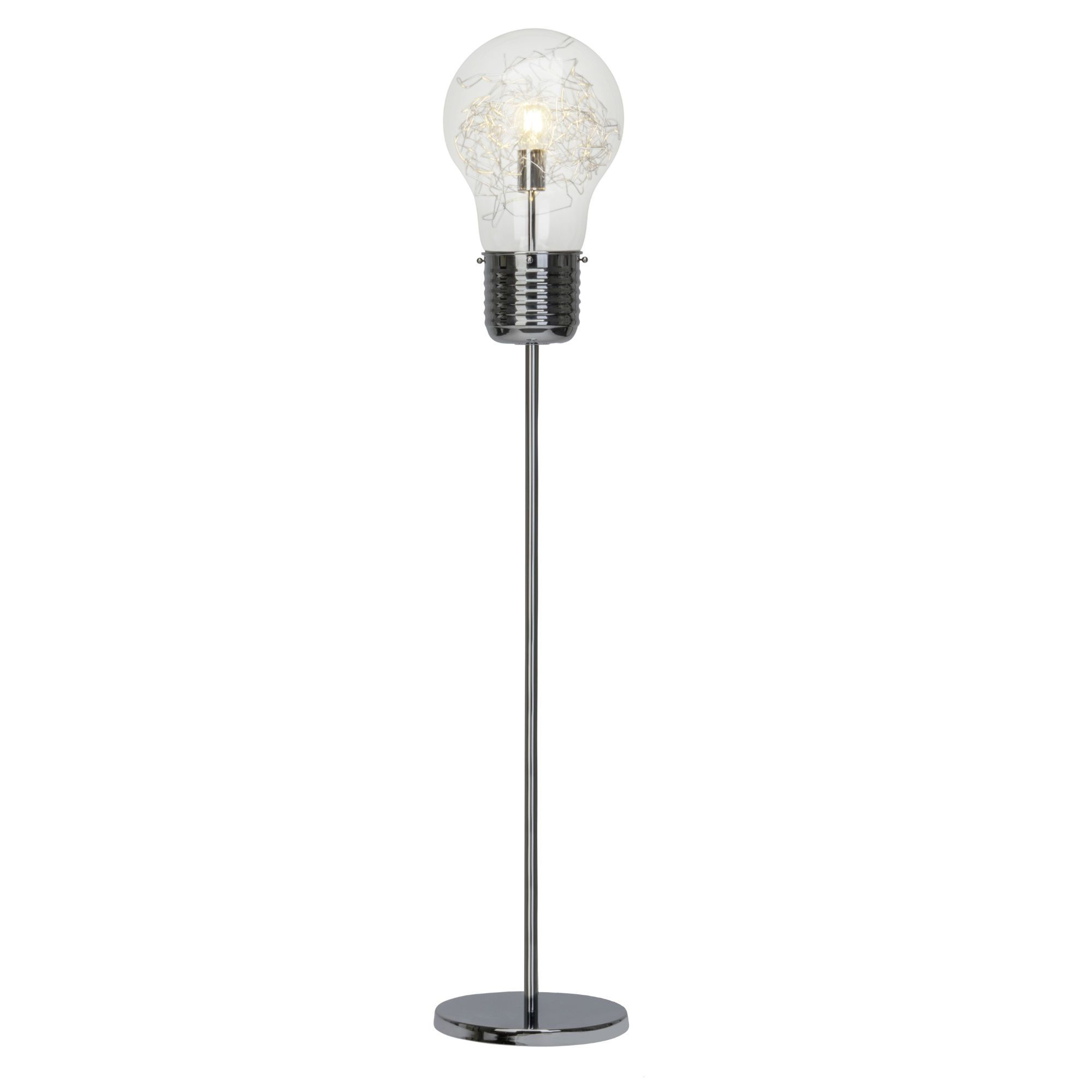Lampadaire Chrome Bulb Lampadaire Chrome Et Verre H150cm Brilliant